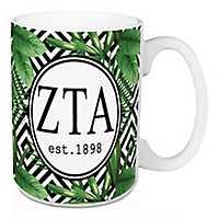 Zeta Tau Alpha Tropical Palm Mug