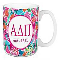 Alpha Delta Pi Bright Floral Mug