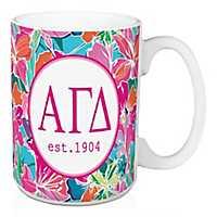 Alpha Gamma Delta Bright Floral Mug