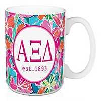 Alpha Xi Delta Bright Floral Mug