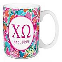 Chi Omega Bright Floral Mug