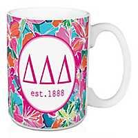 Delta Delta Delta Bright Floral Mug