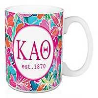 Kappa Alpha Theta Bright Floral Mug