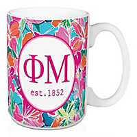 Phi Mu Bright Floral Mug