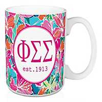 Phi Sigma Sigma Bright Floral Mug