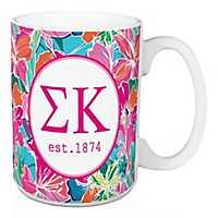 Sigma Kappa Bright Floral Mug
