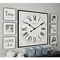 Love Is Clock, Plaques, and Frames 7-pc. Wall Set