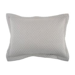 Solid Gray Geometric Standard Pillow Sham