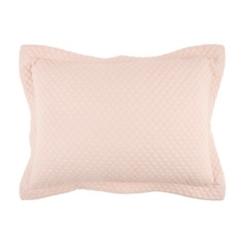 Solid Pink Geometric King Pillow Sham