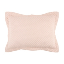 Solid Pink Geometric Standard Pillow Sham