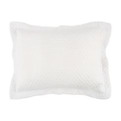 Solid White Geometric King Pillow Sham