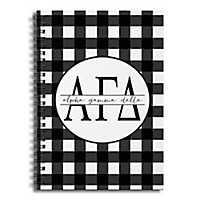 Alpha Gamma Delta Buffalo Check Spiral Notebook