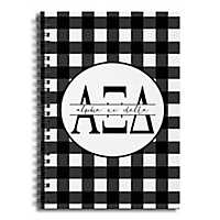 Alpha Xi Delta Buffalo Check Spiral Notebook