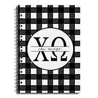 Chi Omega Buffalo Check Spiral Notebook