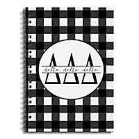 Delta Delta Delta Buffalo Check Spiral Notebook