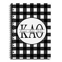 Kappa Alpha Theta Buffalo Check Spiral Notebook