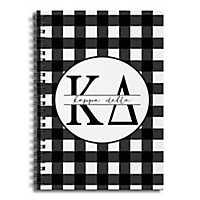 Kappa Delta Buffalo Check Spiral Notebook
