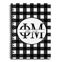 Phi Mu Buffalo Check Spiral Notebook