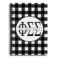 Phi Sigma Sigma Buffalo Check Spiral Notebook