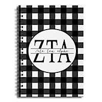 Zeta Tau Alpha Buffalo Check Spiral Notebook