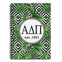 Alpha Delta Pi Tropical Palms Spiral Notebook