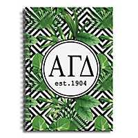 Alpha Gamma Delta Tropical Palms Spiral Notebook