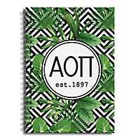 Alpha Omicron Pi Tropical Palms Spiral Notebook