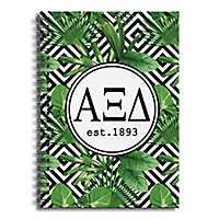 Alpha Xi Delta Tropical Palms Spiral Notebook
