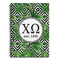 Chi Omega Tropical Palms Spiral Notebook