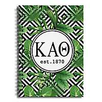 Kappa Alpha Theta Tropical Palms Spiral Notebook