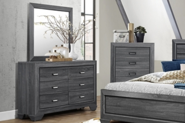 Bailey Gray Dresser with Mirror