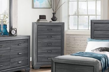 Bailey Gray 5-Drawer Chest