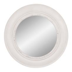 White Round Porthole Wall Mirror, 30 in.