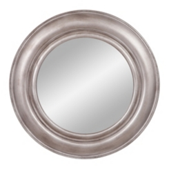 Pewter Round Porthole Wall Mirror, 30 in.
