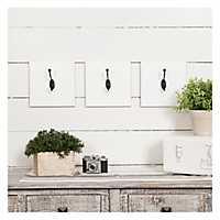 White Wooden Wall Hooks, Set of 3