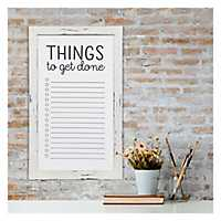 White Washed Things To Get Done White Board