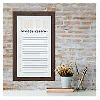 Rustic White Washed To Do List White Board