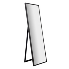 Gray Washed Free Standing Cheval Mirror