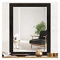 Black and Bronze Beveled Wood Mirror, 36x48 in.