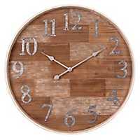 Rustic Wooden Shiplap Barrel Wall Clock