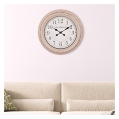 Distressed Champagne Round Wall Clock