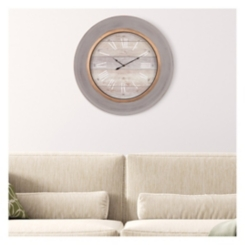 Distressed Blue Modern Slope Round Wall Clock