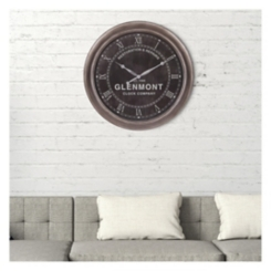 Black Glenmont Restoration and Repairs Wall Clock
