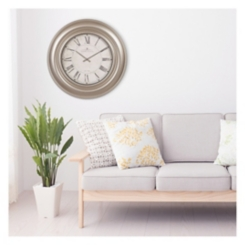 Silver Framed Glenmont Round Wall Clock