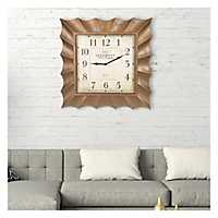 Gold Scallop Frame Square Wall Clock