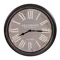 Distressed Black and Gray Wall Clock
