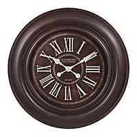 Distressed Black Roman Numeral Wall Clock