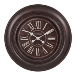 Distressed Black Roman Numeral Wall Clock