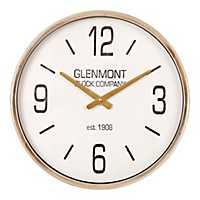 Metallic Gold Retro Wall Clock