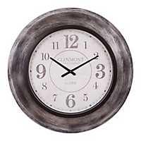 Modern Gunmetal Slope Framed Wall Clock